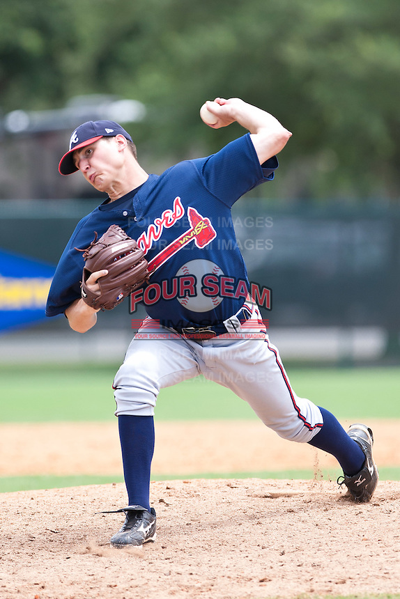 Stephen Foster of the Gulf Coast League Braves during the game against the Gulf Coast League Tigers July 3 2010 at the Disney Wide World of Sports in Orlando, Florida.  Photo By Scott Jontes/Four Seam Images