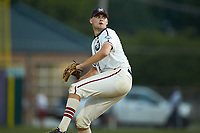 High Point-Thomasville HiToms starting pitcher Ryan Cusick (17) (Wake Forest) in action against the Wilson Tobs at Finch Field on July 17, 2020 in Thomasville, NC. The Tobs defeated the HiToms 2-1. (Brian Westerholt/Four Seam Images)