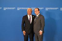 FranÁois Hollande - Antonio Costa - SOMMET DES PAYS DU SUD DE L'UNION EUROPEENNE