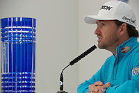 14.10.2014. The London Golf Club, Ash, England. The Volvo World Match Play Golf Championship.  Defending champion Graeme McDowell (NIR) at the morning press conference.