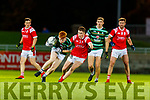 Brandon Barrett in action against Ronan Buckley, East Kerry during the Kerry County Senior Football Championship Semi-Final match between East Kerry and St Brendan's at Austin Stack Park in Tralee, Kerry.