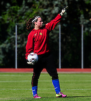 European Women's Under - 19 Championship 2011 Italy :.Switzerland - Belgium U19 : Quirina D'Haeseleir.foto DAVID CATRY / VROUWENTEAM.BE