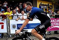 LLANOGRANDE - COLOMBIA, 14-02-2019: Chris Froome (GBR) del equipo Sky durante la tercera etapa del Tour Colombia 2.1 2019 con un recorrido de 167.6 Km, que se corrió en un circuito con salida y llegada en el Complex Llanogrande. / Chris Froome (GBR) Sky team, during the third stage of the Tour Colombia 2.1 2019 with a distance of 167.6 km, which was run on a circuit with start and finish at the Complex Llanogrande. Photo: VizzorImage / Fedeciclismo Prensa / Cont.