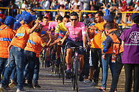 TUNJA - COLOMBIA, 11-02-2020: Sergio Higuita (COL) del equipo EF EDUCATION FIRST durante la primera del Tour Colombia 2.1 2020 que se correrá en Boyacá, Colombia entre el 11 y 16 de febrero de 2020. / Sergio Higuita (COL) of team EF EDUCATION FIRST during the launch of Tour Colombia 2.1 2020 that that will run between February 11 and 16, 2020 in Boyacá, Colombia.  Photo: VizzorImage / Darlin Bejarano / Cont