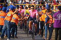 TUNJA - COLOMBIA, 11-02-2020: Sergio Higuita (COL) del equipo EF EDUCATION FIRST durante la primera del Tour Colombia 2.1 2020 que se correrá en Boyacá, Colombia entre el 11 y 16 de febrero de 2020. / Sergio Higuita (COL) of team EF EDUCATION FIRST during the launch of Tour Colombia 2.1 2020 that that will run between February 11 and 16, 2020 in Boyacá, Colombia.  Photo: VizzorImage / Darlin Bejarano / Cont