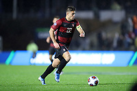 CARY, NC - DECEMBER 13: Logan Panchot #22 of Stanford University plays the ball during a game between Stanford and Georgetown at Sahlen's Stadium at WakeMed Soccer Park on December 13, 2019 in Cary, North Carolina.
