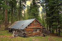 Abandoned hunting shack in Freemont National Forest. Oregon