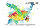 Carlie, REALISTIC ANIMALS, REALISTISCHE TIERE, ANIMALES REALISTICOS, paintings+++++,AUED48,#A#, EVERYDAY, sea turtle