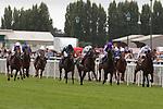 August 15, 2021, Deauville (France) - Palace Pier (#1) with Lanfranco Dettori abroad wins the Prix du Haras de Fresnay-Le-Buffard Jaques Le Marois (Gr I) at Deauville-La Touques Racecourse on August 15 in Deauville. [Copyright (c) Sandra Scherning/Eclipse Sportswire)]