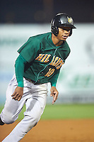 Lynchburg Hillcats second baseman Claudio Bautista (10) running the bases during a game against the Wilmington Blue Rocks on June 3, 2016 at Judy Johnson Field at Daniel S. Frawley Stadium in Wilmington, Delaware.  Lynchburg defeated Wilmington 16-11 in ten innings.  (Mike Janes/Four Seam Images)