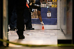 The NYPD investigates a double shooting at a liquor store at 1563A Fulton Street on July 16, 2020 in the Brooklyn borough of New York City.  Photograph by Michael Nagle