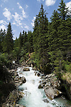 Austria, Tyrol, Stubai Valley, river Ruetz