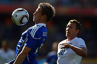 Chris Killen (R) of New Zealand and Jan Durica (L) of Slovakia