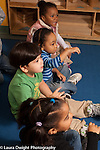 Preschool 3 year olds circle time music singing song with hand gestures