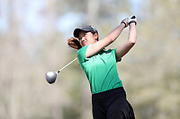 WALLACE, NC - MARCH 09: Beem Pabsimma of USC Upstate tees off on the 15th hole of the River Course at River Landing Country Club on March 09, 2020 in Wallace, North Carolina.