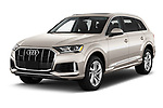 2020 Audi Q7 Premium 5 Door SUV Angular Front automotive stock photos of front three quarter view