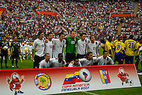USA starting eleven team during the Copa America 2007, in Barquisimeto, Venezuela on July 5, 2007. Columbia defeated the USA, 1-0.