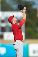 Johnson City Cardinals third baseman Nolan Gorman (4) on defense against the Burlington Royals at Burlington Athletic Stadium on July 15, 2018 in Burlington, North Carolina. The Cardinals defeated the Royals 7-6.  (Brian Westerholt/Four Seam Images)