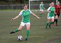 Action from the Capital Women's Premier football match between Brooklyn Northern United and Victoria University at Wakefield Park in Wellington, New Zealand on Sunday, 1 August 2021. Photo: Dave Lintott / lintottphoto.co.nz