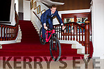 Marcus Tracey cycling in the empty Killarney Park Hotel video  has gone viral