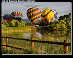 Hot air balloons ascend east of Boulder.<br />