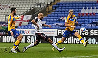 Bolton Wanderers' Alex John-Baptiste (centre) shoots at goal <br /> <br /> Photographer Andrew Kearns/CameraSport<br /> <br /> The EFL Sky Bet League Two - Bolton Wanderers v Mansfield Town - Tuesday 3rd November 2020 - University of Bolton Stadium - Bolton<br /> <br /> World Copyright © 2020 CameraSport. All rights reserved. 43 Linden Ave. Countesthorpe. Leicester. England. LE8 5PG - Tel: +44 (0) 116 277 4147 - admin@camerasport.com - www.camerasport.com