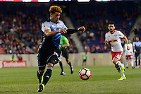 Harrison, NJ - Wednesday Feb. 22, 2017: Erik Hurtado during a Scotiabank CONCACAF Champions League quarterfinal match between the New York Red Bulls and the Vancouver Whitecaps FC at Red Bull Arena.