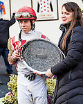 January 2 2016: Flexibility with Irad Ortiz Jr. win the 146th running of the Grade III Jerome Stakes for 3-year olds, going 1 mile & 70 yards at Aqueduct Racetrack.  Trainer Chad C. Brown. Owner Klaravich Stables & William H. Lawrence. Sue Kawczynski/ESW/CSM