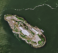 aerial photo map of Alcatraz, San Francisco, CA
