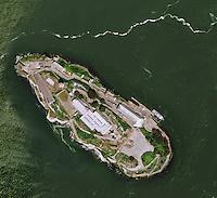aerial photo map of Alcatraz, San Francisco, CA