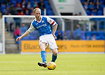 St Johnstone v Partick Thistle…19.08.17… McDiarmid Park… SPFL<br />Steven Anderson plays the ball through to Michael O'Halloran who goes on to score saints goal<br />Picture by Graeme Hart.<br />Copyright Perthshire Picture Agency<br />Tel: 01738 623350  Mobile: 07990 594431