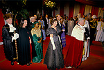 Sir Alexander Graham Lord Mayor of London and Carolyn The Lady Mayoress. Banquet at the Guildhall, City of London 1990. The Lord Mayor is with the President of Senegal and inspecting a Guard of Honour.  UK  t 1990s UK