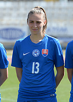 20180307 - LARNACA , CYPRUS :  Slovakian Kristina Kosikova pictured during a women's soccer game between  Slovakia and the Czech Republic , on Wednesday 7 March 2018 at the GSZ Stadium in Larnaca , Cyprus . This is the final game in a decision for 9 th or 10 th place of the Cyprus Womens Cup , a prestigious women soccer tournament as a preparation on the World Cup 2019 qualification duels. PHOTO SPORTPIX.BE   DAVID CATRY