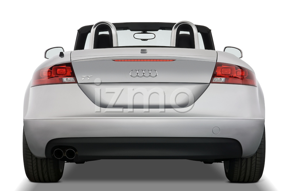 Straight rear view of a 2007 - 2010 Audi TT Roadster