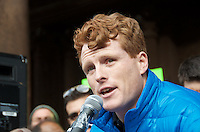 Representative Joe Kennedy at Rally Anti Trump Muslim Ban and immigration restrictions at Copley Plaza Boston ,MA 1.29.17