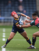 29th May 2021; Sixways Stadium, Worcester, Worcestershire, England; Premiership Rugby, Worcester Warriors versus Leicester Tigers; Dan Kelly of Leicester Tigers tackles Harri Doel of Worcester Warriors