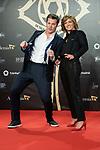 """Maria Casado and Jota Abril attend """"Iris Academia de Television' awards at Nuevo Teatro Alcala, Madrid, Spain. <br /> November 18, 2019. <br /> (ALTERPHOTOS/David Jar)"""
