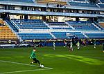 Alejandro Remiro (Real Sociedad) warms up before  La Liga match round 10 between Cadiz CF and Real Sociedad at Ramon of Carranza Stadium in Cadiz, Spain, as the season resumed following a three-month absence due to the novel coronavirus COVID-19 pandemic. Nov 22, 2020. (ALTERPHOTOS/Manu R.B.)
