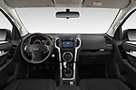 Stock photo of straight dashboard view of 2019 Isuzu D-Max LSX 5 Door Pick-up Dashboard