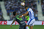 Leganes' Juan Francisco Moreno and Real Sociedad's Willian Jose Da Silva during La Liga match. August 24, 2018. (ALTERPHOTOS/A. Perez Meca)