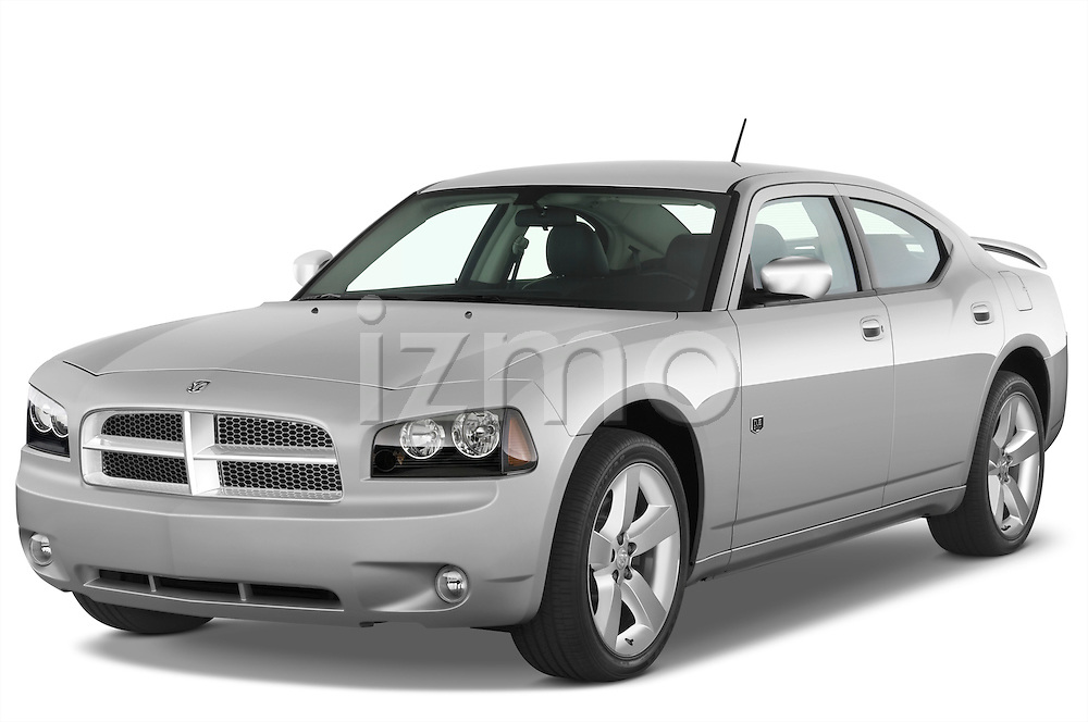Front three quarter view of a 2008 Dodge Charger Dub.