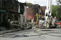 Montreal (QC) CANADA -May  2009 file - aftermath of a fire on  Saint-Andre street