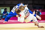 Priscilla Gagné, Tokyo 2020 - Para Judo // Parajudo.<br /> Priscilla Gagné competes against Cherine Abdellaoui (ALG) in the women's 52kg judo gold medal match // Priscilla Gagné affronte Cherine Abdellaoui (ALG) dans le match pour la médaille d'or en judo féminin de 52 kg. 27/08/2021.