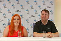 Pictured: Lotto millionaires William and Sophie Richards at the Towers Hotel near Swansea, Wales, UK. Tuesday 22 May 2018<br /> Re: Self-employed William Richards, 32 and wife Sophie, a couple from Swansea are the latest lotto millionaires having won £1m. The ticket was baught while out buying peas for dinner.