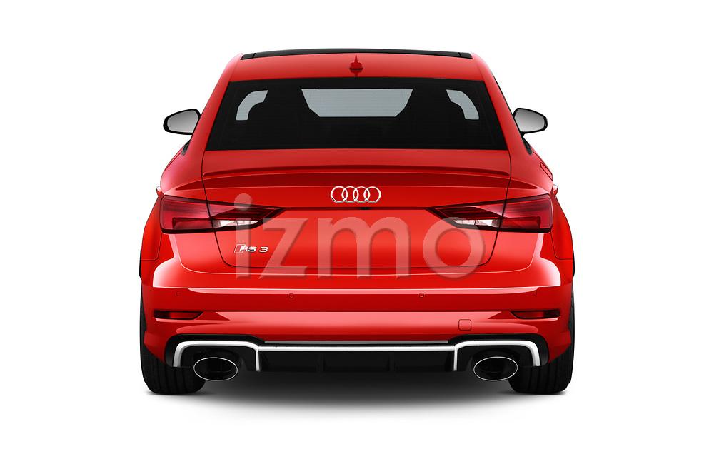 Straight rear view of 2019 Audi RS-3 - 4 Door Sedan