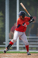 Boston Red Sox Jeremy Rivera (11) during an instructional league game against the Minnesota Twins on September 26, 2015 at CenturyLink Sports Complex in Fort Myers, Florida.  (Mike Janes/Four Seam Images)