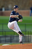 UNCG Spartans starting pitcher Corey Taylor (15) in action against the Georgia Southern Eagles at UNCG Baseball Stadium on March 29, 2013 in Greensboro, North Carolina.  The Spartans defeated the Eagles 5-4.  (Brian Westerholt/Four Seam Images)