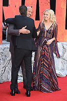 """Jeffrey Dean Morgan, Dwayne Johnson and Malin Akerman<br /> arriving for the """"Rampage"""" premiere at the Cineworld Empire Leicester Square, London<br /> <br /> ©Ash Knotek  D3395  11/04/2018"""