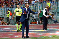 Roma's coach Eusebio Di Francesco gestures during the Italian Serie A football match between Roma and Chievo Verona at Rome's Olympic stadium, September 16, 2018.<br /> UPDATE IMAGES PRESS/Riccardo De Luca