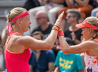 Paris, France, 4 June, 2017, Tennis, French Open, Roland Garros, Woman's doubles: Kiki Bertens (NED) (L) / Johanna Larsson (SWE)<br /> Photo: Henk Koster/tennisimages.com